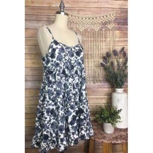 Tobi NEW Floral Blue Babydoll Style Dress Boho